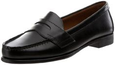 $57.05-$66.00 Eastland Women's Classic II,Black Leather,8.5 M US - The Eastland Classic III is the classic penny loafer. Set in a rich quality leather upper with moc-toe stitching, this Eastland shoe has the good looks you want. The comfort rubber unit sole and cushioned innersole for shock absorption provide you with the utmost comfort as you cruise in style in this women's shoe. A timeless class ...