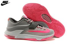separation shoes cdbd9 5e008 Mens Nike Kevin Durant KD 7 Basketball Shoes Grey Pink,Wholesale Cheap Nike ,Jordans