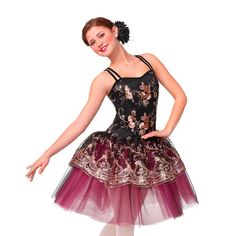 Super Bass Dance Costume Unitard w// Backskirt Tap New Clearance Child /& Adults