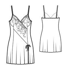 Sleepwear  - Sewing Pattern #5788. Made-to-measure sewing pattern from Lekala…