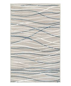 Take a look at this Navy & Gray Lines Plush Grace Area Rug today!