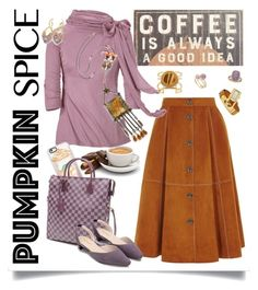 """Coffee Date"" by petalp ❤ liked on Polyvore featuring Primitives By Kathy, Vince Camuto, Hermès, Tresor, Michael Kors, Casetify, Louis Vuitton and skirt"