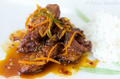 Chinese Food Crispy Orange Beef | FifteenSpatulas.com  Made this tonight. Quite yummy. Served it with snow peas and rice.
