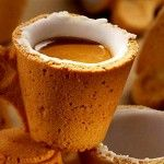 Edible cookie coffee cup by Lavazza