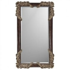 Paragon Rectangle Brown Finish Estate Mirror - 8735