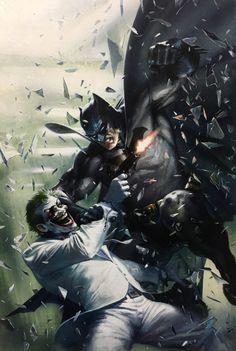 Original Comic Art titled Dark Knight III: The Master Race Batman vs the Joker by Dell'Otto, located in S's Dark Knight III: The Master Race Comic Art Gallery Marvel Vs, Marvel Comics, Dc Comics Art, Nightwing, Batgirl, Joker Batman, Batman Robin, Batman Arkham, Funny Batman