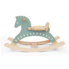 Handmade Wooden Ride On Rocking Horse Sky Blue Animal Design Rocker: Kitchen & Dining Wood Rocking Horse, Wooden Horse, Wooden Animals, Rocking Chair, Handmade Wooden, Handmade Toys, Pet Toys, Baby Toys, Woodworking Toys