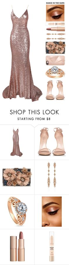 """""""DANCE IN THE DARK"""" by brie-the-pixie ❤ liked on Polyvore featuring Stuart Weitzman, Sondra Roberts, Fernando Jorge, BERRICLE, Charlotte Tilbury, Maybelline and Rebecca Minkoff"""