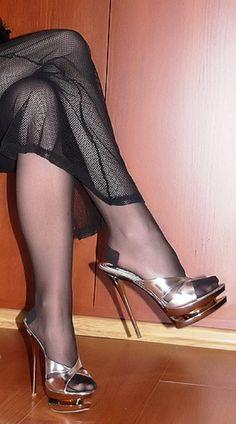 high heels – High Heels Daily Heels, stilettos and women's Shoes Hot Heels, Sexy Legs And Heels, Black High Heels, High Heels Outfit, Heels Outfits, High Heel Boots, Pantyhose Heels, Stockings Heels, Stockings Lingerie