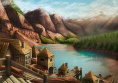 ArtStation - Landscape mountain, Valérian LEFEBVRE
