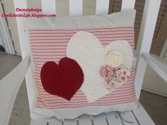 Our Eclectic Life: Valentine's Pillow Covers and Wreath