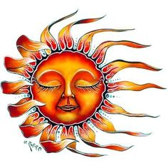 Sleeping Sun Tattoo by Raven. $1.50. In Stock. 2.5x2.25. Temporary Tattoo. This tattoo image is of a sleeping sun with it's sun rays blowing in the wind.