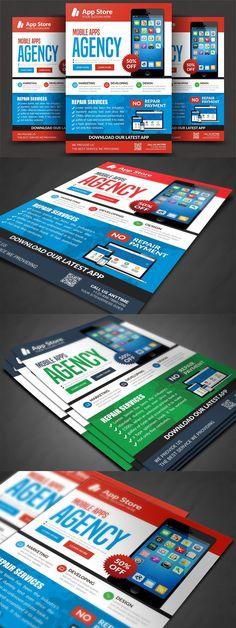 Window Design, Flyer Template, Mobile App, Templates, Stencils, Mobile Applications, Vorlage, Models