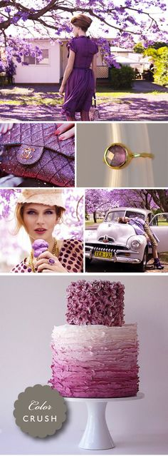 awesome cake!! (stunning chanel)  Purple and more purple!