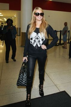 How to dress for the airport, demonstrated by your favorite celebrities, including Paris Hilton.