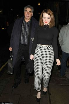 Jim Carter and Sophie McSheraat the Radio Times Cover Party.