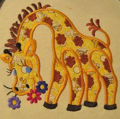 Applique in the Hoop - Giraffe