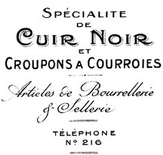 Free printable, royalty free French Graphics typography from an antique invoice.