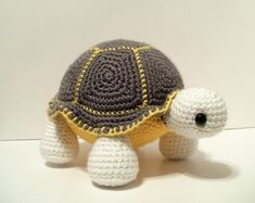 Crochet Turtle (no pattern, just picture)                                                                                                                                                                                 More