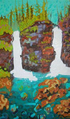 Sheila Kernan - Within Reach 50 x mixed media/canvas Mixed Media Canvas, Landscapes, Illustration Art, Vibrant, Gallery, Drawings, Artist, Artwork, Painting