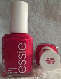 Essie Nail Polish Double Breasted Jacket #506 Strawberry Red Lacquer Manicure #Essie