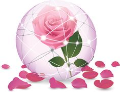 Роза в хрустальный шар