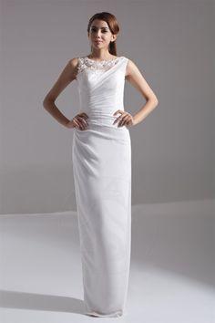 Robe de mariée avec sans manches de fourreau dos vie en tulle