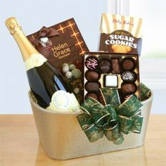 Gloria Ferrer Sparkling Wine and Chocolate Gift Holiday Gift Baskets, Wine Gift Baskets, Gourmet Gift Baskets, Beer Gifts, Food Gifts, Charcuterie Gifts, Champagne Gift Baskets, Wine Favors, Corporate Gift Baskets