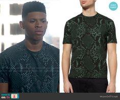 Hakeem's snake print t-shirt on Empire.  Outfit Details: http://wornontv.net/53189/ #Empire