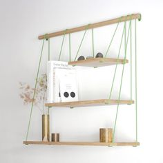 Groovy shelving inspired by suspension bridges - the Bridge Shelves by Out of Stock - as seen on Remodelista