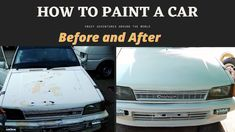 In this video I am going to tell you how to paint a car. It's my hobby. I am enthusiast of Cars. Part time I try to learn about car restoration. the owner of this car wants to repair paint scratch car bumper of his Japanese Charade Car. Bonnet paint of car got burst and cracks due to sun and low quality of paint. in addition to that, both bumper's paint got damaged and back fenders got rust.