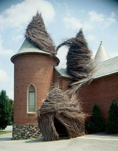 Incredible Human-Sized Nests Installed Across the Globe/ To me, this looks like Rapunzel's revenge... >:)