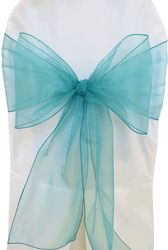 8x108 Organza Sash - Jade50526(10pcs/pk) @ $5.60 oer pack  Chairs at Reception table. Also wrapped around cocktail tables and aisle chairs. Need 40 Total?