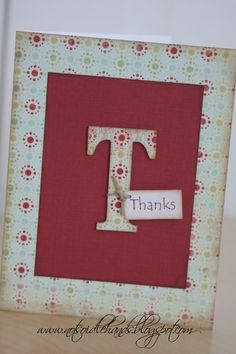 Love how simple this thank you note is from Not So Idle Hands, Crafts from the Crafty