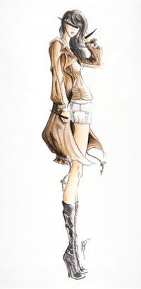 I love fashion sketches for some reason. Fashion Illustration Sketches, Fashion Sketchbook, Fashion Design Sketches, Illustration Art, Sketch Fashion, Fashion Drawings, Arte Fashion, Moda Fashion, I Love Fashion