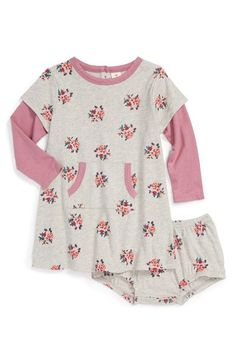 Tucker + Tate Floral Print Knit Dress & Bloomers (Baby Girls) at Nordstrom.com