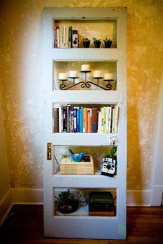 Vintage Door Repurposed  Bookshelf-