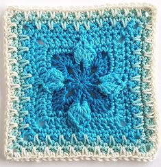 Week 21 Catalan by Shelley Husband 2016 Crochet Squares Afghan, Granny Square Crochet Pattern, Crochet Blocks, Crochet Stitches Patterns, Crochet Motif, Crochet Designs, Crochet Yarn, Granny Squares, Crocheted Lace