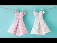 Art & Craft : How to make an origami dress - craft tutorial