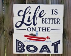 Life is better on the river/river by InspiringDecorStudio on Etsy