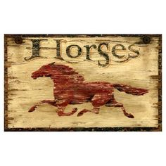 pinned this Horses Sign from the Red Horse Signs event at Joss and ...