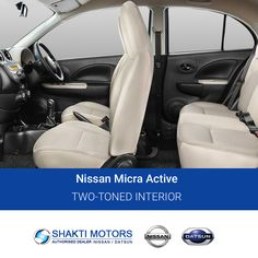 Two-Toned #Interior- #NissanMicraActive Visit us: https://goo.gl/50m975 #Active #SunnyCars #BookMyCar #MyCar #Datsun #DatsunCar #Nissan #FirstCar #Drive #Road