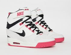 #Nike Air Revolution Sky Hi White Red