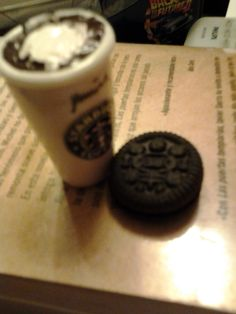 my little sturbacks cup... with a little oreo cookie