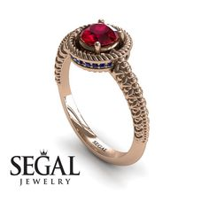 Unique Engagement Ring White Gold Vintage Art Deco Victorian Ring Edwardian Ring Filigree Ring Ruby With Sapphire. Elegant Engagement Rings, Round Diamond Engagement Rings, Antique Engagement Rings, Wedding Rings, Gold Wedding, Wedding Ceremony, Edwardian Ring, Victorian Ring