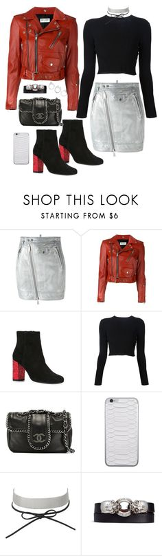 """""""Untitled #136"""" by manerefortis ❤ liked on Polyvore featuring Dsquared2, Yves Saint Laurent, Proenza Schouler, Chanel, Jamie Clawson, Charlotte Russe, Alexander McQueen and Moratorium"""