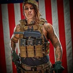 Kinessa Johnson - ex US army now anti poaching rep... Good heaven's - wanna be like her