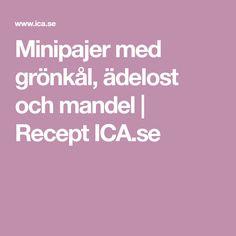 Minipajer med grönkål, ädelost och mandel | Recept ICA.se