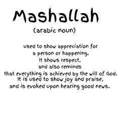 What is the meaning of MashAllah?