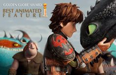 CONGRATULATIONS HTTYD2!!!! BEST ANIMATED FEATURE IN THE GOLDEN GLOBE AWARDS :D :D :D